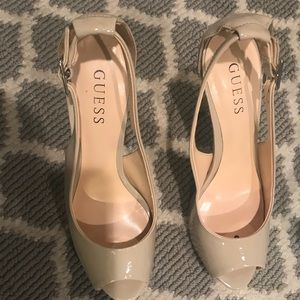 GUESS NUDE HEELS SIZE 7.5